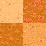 Vintage seamless pattern with poppy flowers Stock Photography