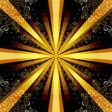 Vintage seamless pattern with rays Stock Images