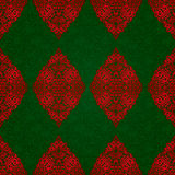 Vintage seamless pattern with red lacy ornament. Royalty Free Stock Images