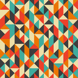 Vintage seamless pattern with rhombuses and triangles. Royalty Free Stock Images