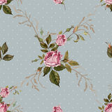 Vintage seamless pattern with roses Royalty Free Stock Photo