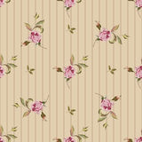 Vintage seamless pattern with roses Stock Photos