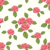 Vintage seamless pattern with roses Stock Photography