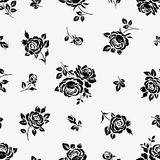 Vintage seamless pattern with roses. Vector floral background Royalty Free Stock Photography