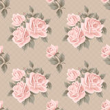 Vintage seamless pattern with roses Stock Images