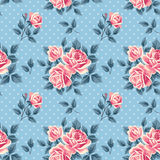 Vintage seamless pattern with roses Royalty Free Stock Image