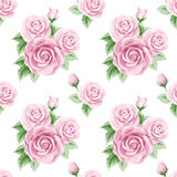 Vintage seamless pattern with roses Royalty Free Stock Photos