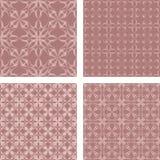 Vintage seamless pattern set. Vintage seamless pattern background set Stock Photography