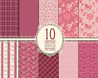 Vintage seamless pattern. Set of seamless vintage patterns, eps 10 stock illustration