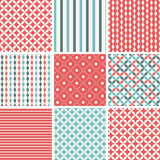9 Vintage Seamless Pattern Set Stock Photography