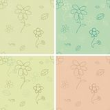 Vintage seamless pattern set Stock Photo