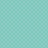 Vintage seamless pattern with small square shapes. Aqua green. Vintage seamless pattern with small octagonal shapes, squares in staggered grid, dots. Simple Royalty Free Illustration
