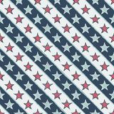 Vintage seamless pattern with stars Stock Photography