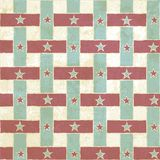 Vintage seamless pattern with stripes and stars Royalty Free Stock Images