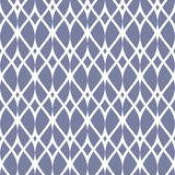 Vintage seamless pattern, thin wavy lines, elegant mesh. Texture of lace, weaving, net, smooth lattice. Subtle geometric background. Blue serenity and white Royalty Free Stock Photography