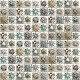 Vintage seamless pattern with tile patchwork elements. Royalty Free Stock Image