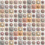 Vintage seamless pattern with tile patchwork elements. Stock Images