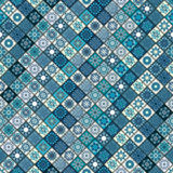 Vintage seamless pattern with tile patchwork elements. Stock Photos