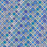 Vintage seamless pattern with tile patchwork elements. Royalty Free Stock Photos