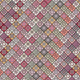 Vintage seamless pattern with tile patchwork elements. Stock Photography