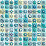 Vintage seamless pattern with tile patchwork elements. Royalty Free Stock Photography
