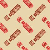 Vintage seamless pattern USB flash drives. Stock Images