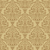 Vintage seamless pattern with Victorian motif. Damask seamless pattern for design. Vector Illustration stock illustration