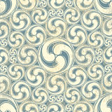 Vintage seamless pattern with waves Stock Photography