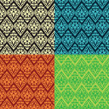 Vintage seamless patterns Stock Photography