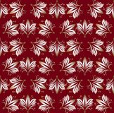 Vintage seamless patterns on dark red background. Fine brocade ornament. Luxurious textile or wrap paper patterns. Retro. Fabric design. Vector eps 10 stock illustration