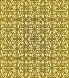 Vintage seamless patterns on golden background. Fine brocade ornament. Luxurious textile or wrapping paper patterns. Retro fabric design. Vector eps 10 stock illustration