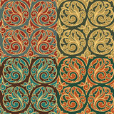 Vintage seamless patterns Stock Photography