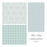 Vintage seamless patterns Royalty Free Stock Images