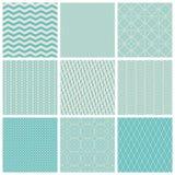 Vintage seamless patterns vector illustration