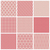 Vintage seamless patterns Royalty Free Stock Photography