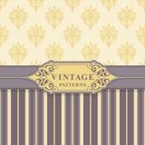 Vintage Seamless Patterns. Stock Photo
