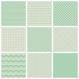 Vintage seamless patterns Royalty Free Stock Image