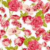 Vintage Seamless Roses Background Royalty Free Stock Photo