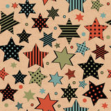 Vintage seamless with stars Royalty Free Stock Images