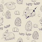 Vintage seamless texture with easter eggs. Royalty Free Stock Photography