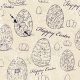 Vintage seamless texture with easter eggs. Stock Images