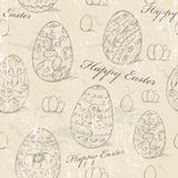 Vintage seamless texture with easter eggs. Stock Photography