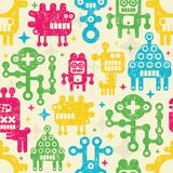 Vintage seamless texture with monsters. Stock Images