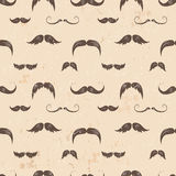 Vintage seamless texture with moustaches Stock Photography