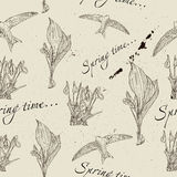 Vintage seamless texture about spring. Stock Images