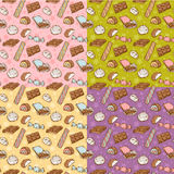 Vintage seamless texture with sweets Royalty Free Stock Photos