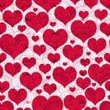 Vintage seamless valentine pattern Stock Photos