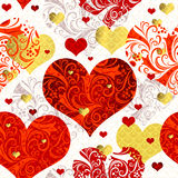 Vintage seamless valentine pattern Stock Photography