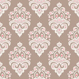Vintage seamless vector damask Royalty Free Stock Photo