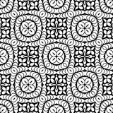 Vintage Seamless Vector Wallpaper. Vector Black White Seamless Wallpaper. Vintage Pattern. Retro Background Royalty Free Stock Photo